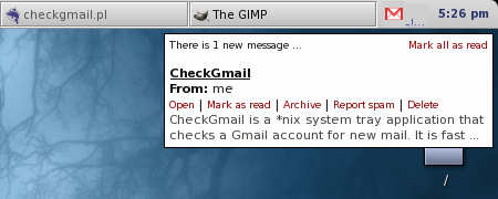 Le feature di checkgmail